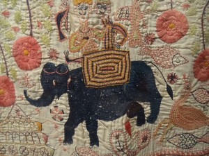 Detail of C19 Kantha, Gurusaday museum