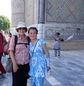 Retired Aussie grandmother with Uzbek teeny-bopper ikat fashionista