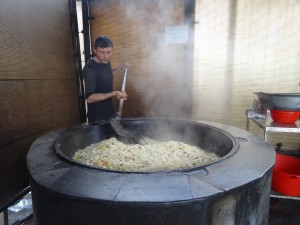 Cauldron of pilaf for plov