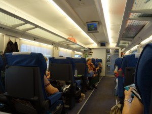 Inside the bullet train