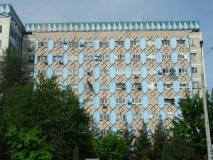 Soviet 70s apartment block